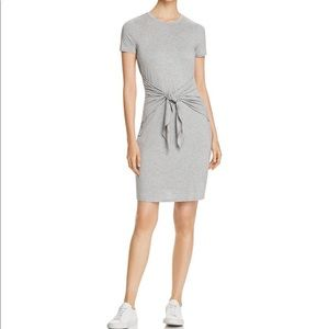 Three Dots Tie Front T-Shirt pullover Jersey Dress